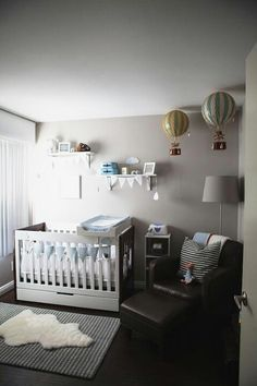 A Travel-Inspired Baby Nursery Design — Giggle Hearts - Party Ideas for Celebrating Everyday with Giggles, Love + Sparkles Baby Bedroom, Baby Boy Rooms, Baby Boy Nurseries, Nursery Room, Girl Nursery, Kids Bedroom, Baby Cribs, Modern Nurseries, Small Nurseries