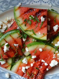 grilled watermelon | Grilled Watermelon Salad with Feta - the perfect cookout salad for ...