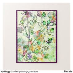 My Happy Garden Jigsaw Puzzle Party Hats, Gifts For Mom, Photo Puzzle, Jigsaw Puzzles, Christmas Gifts, Garden, Happy, Patio, Gift Ideas