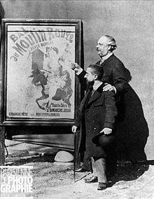 Toulouse-Lautrec and Mr Tremolada, Zidler's assistant, Moulin-Rouge manager. Paris, 1892