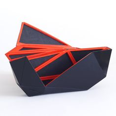 "Orishiki Handbag by Naoki Kawamoto: Origami inspired, made with tessellated magnetic triangles. I hope it has a satisfying ""snap"" when it closes!"