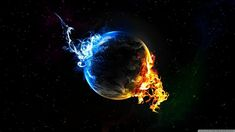Earth on Fire Wallpaper Photo Manipulated Nature Wallpapers) – HD Wallpapers Wallpaper Pc Hd, Desktop Wallpaper 1920x1080, Cool Desktop Backgrounds, Wallpaper Earth, Planets Wallpaper, Computer Wallpaper, Wallpaper Downloads, Screen Wallpaper, Black Backgrounds