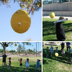 Honey Bee Hive Pinata instead of Red Balloon - cool!