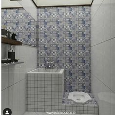 "INSPIRASI DEKORASI RUMAH UNIK di Instagram ""yang lebih nyaman pake closet jongkok masih banyak kan yak? 😁😁 . . . Yuk temukan inspirasi rumah idaman kamu lainnya Follow:…"" Bathroom Tile Designs, Bathroom Design Small, Simple Bathroom, Bathroom Interior Design, Bathroom Layout, Minimalist Bathroom Design, Minimalist Home, Tiny House Bathroom, Dream Bathrooms"
