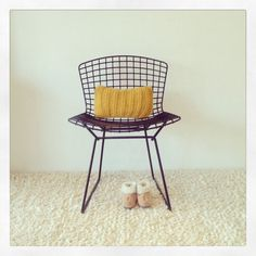 Vintage Drahtstuhl, Bertoia Stuhl Wire Chair 420 von Harry Bertoia - 1952s-Knoll International