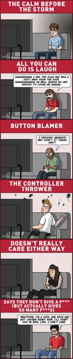 Funny pictures about Gamer Reactions To Losing An Online Match. Oh, and cool pics about Gamer Reactions To Losing An Online Match. Also, Gamer Reactions To Losing An Online Match photos. Video Game Logic, Video Games Funny, Funny Games, Funny Videos, King's Quest, Rasengan Vs Chidori, Online Match, Gamers, Typing Games