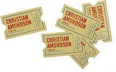 These were designed for filmmaker Christian Amundson by Alice Cho.
