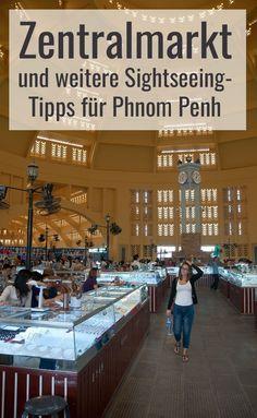 Phnom Penh: Markt mit Schmuck und schönen Gegenständen sowie jede Menge Essen gibt es am Zentralmarkt. Die Stimmung in den Marktgebieten ist extrem  unterschiedlich. Sehenswürdigkeiten-Tipps für Kambodscha und Phnom Penh im Reiseblog. Phnom Penh, Angkor Wat, Cambodia, Laos, Asia, Travelling, Wanderlust, Outdoor, Holiday