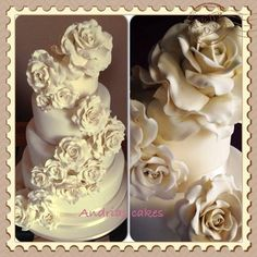 Ivory Gorgeousness !! wedding cake  ~ all edible