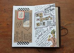all the beautiful mixed media journal pages out there... but this is still my favorite kind of page... simple and genuine