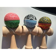 Matte Color Wooden Crack Kendama Toy Ball Sword Ball Skillful Juggling Balls Outdoor Fun Sports Japanese Traditional Game Toys