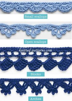 Crochet Edging And Borders Crochet Edgings And Trims with Free Pattern - We rounded up a list of 20 Crochet Edging Patterns. They are ready to take center stage and dress up anything you crochet. Crochet Edging Patterns Free, Crochet Edging Tutorial, Crochet Blanket Edging, Crochet Lace Edging, Crochet Trim, Knitting Patterns Free, Free Pattern, Free Knitting, Knit Patterns