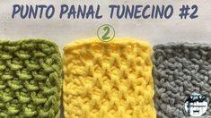 Punto panal tunecino #2 (colmena, nido de abeja, smock) - Crochet tunecino