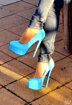 electric blue heels by tracy sam