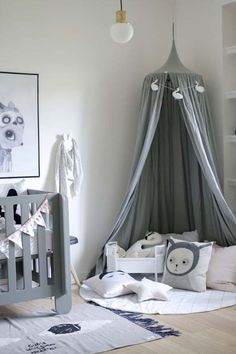A very grey nursery - one of my favourite colours for a kids room Baby Boy Room Decor, Baby Bedroom, Baby Boy Rooms, Baby Boy Nurseries, Nursery Room, Girl Room, Girls Bedroom, Nursery Gray, Room Baby