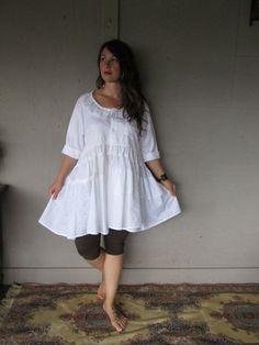 Romantic upcycled clothing prairie dress von lillienoradrygoods