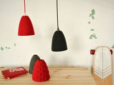 Items similar to Felt lamp shade for pendant light; Ikea hack on Etsy Lamp Shades, Hanging Lights, Pendant Lamp, Floor Chair, Color Red, Cord, Eco Friendly, Felt, Content