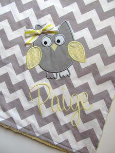 Personalized Baby Blanket 30x35 Minky Baby by FunnyFarmCreations, $47.00