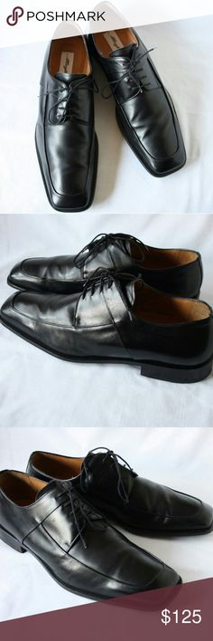 """Black calfskin mezlan""""medolla"""" oxfords mens 14 m These beautiful calfskin apron toe laceups have only been worn a few times, very well taken care of always stored with shoe trees and are in excellent used condition. Men's Size 14 medium. Mezlan Shoes Oxfords & Derbys"""