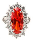 The Jeanette MacDonald Fire Orange Diamond Ring
