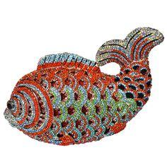 Luxury Crystal Evening Bags Handmade Fish Shape Clutch Bags Women Party Purse Pochette Diamond Party_9     https://www.lacekingdom.com/