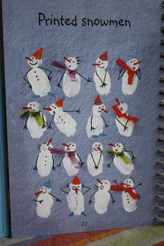 "Fingerprint snowmen shared by Snickerdoodle Creations ("",)"