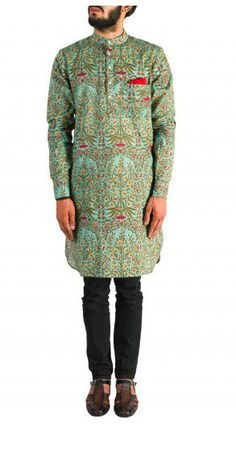 Look cool in this printed mens' Kurta in the upcoming wedding season. Available at a special online price. Shop now! Nehru Jacket For Men, Nehru Jackets, Mens Ethnic Wear, Wedding Store, Groom Dress, Green Print, Men's Collection, Look Cool, Shop Now