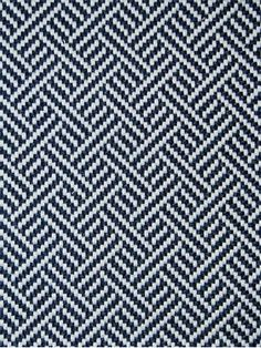"Madcap Cottage Beach Club BK Indigo - Madcap Cottage Fabric - Geometric jacquard fabric for furniture upholstery. 100% poly. Durable 100,000 double rubs. 54"" wide."