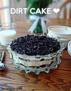 Dirt Cake - for big holiday get togethers my grandmother always made Dirt Cake and it was quite possibly the highlight of the meal for me. She used chocolate pudding in her Dirt Cake, which I loved since I'm a huge chocaholic.