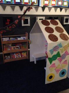 Hans en grietje sprookjes snoephuisje themahoek peuters kleuters onderwijs peuterspeelzaal kinderdagverblijf