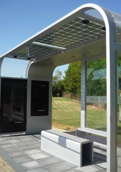 Vidurglass Photovoltaic Safety Glazing in Pergolas, Canopies or other Urban Furniture Applications ~ Global Glass Solutions