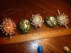 Vintage Sequin Bead Easter Egg Ornament Decorations 5 Hand Made | eBay