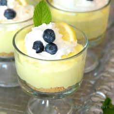 Lemon Cheesecake Mousse - #Cheesecake #Lemon #Mousse