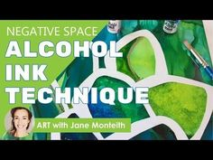 (6) Negative Space Painting with Alcohol Ink & Contact Paper! - YouTube