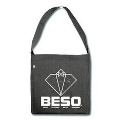 Sac bandoulière, logo B-E-S-O by CostarDiamant en impression direct blanc, bon voyage ;)