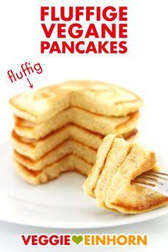 Fluffy vegan pancakes Best vegan pancakes Recipe with video - Vegan Recipes Pancakes Végétaliens, Best Vegan Pancakes, Best Pancake Recipe, Breakfast Pancakes, Fluffy Pancakes, Fall Breakfast, Pumpkin Pancakes, Oatmeal Pancakes, Baby Food Recipes