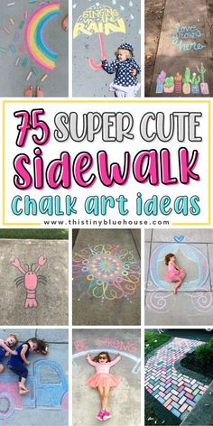 Do the kids love to create gorgeous chalk art? Here are 75 creative and super cute sidewalk chalk art ideas for kids to find inspiration for their next unique creation.