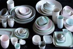 Small Square Porcelain Platters by Mud Australia & Calvin Klein tula collection | My strange obsession with dinnerware ...