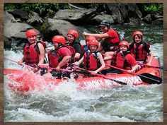 Upper Pigeon River Rafting....70 rapids from class 1-4
