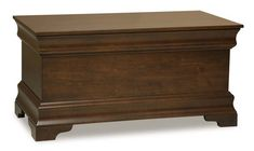 Amish Palm Valley Blanket Chest Luxurious details and a quality build put the Palm Valley on the best seller list. Crafted in Amish country. Personalize in choice of wood and stain. #blanketchest #bedroomchest