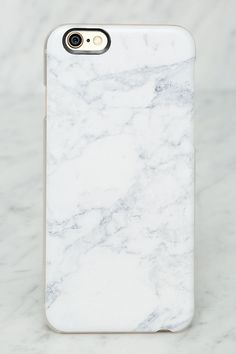 White Marble iPhone 6 Case//