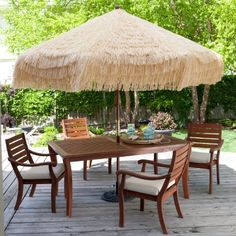 (CLICK IMAGE TWICE FOR PRICING AND INFO :) #umbrellas #patioumbrellas #marketumbrellas #sunumbrellas #shadeumbrellas - 9 ft. Palapa Patio Umbrella – Cream « zPatioFurniture.com