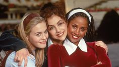 Clueless - Alicia Silverstone, Brittany Murphy, and Stacey Dash - Have you ever seen three smiles that beautiful in one photo? Stacey Dash, Brittany Murphy, Clueless Quotes, Clueless 1995, Dionne Clueless, Clueless Style, Teen Movies, Good Movies, Mean Girls