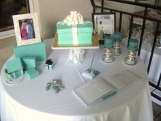 """Tiffany & Co"" themed Bridal Shower we help host for a friend of ours named Tiffany"