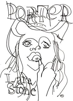 belle BRUT sketchbook: #larastone for #portermagazine #fashion #style #illustration #blindcontour © belle BRUT 2014 http://bellebrut.tumblr.com/post/93652864305/belle-brut-sketchbook-larastone-portermagazine