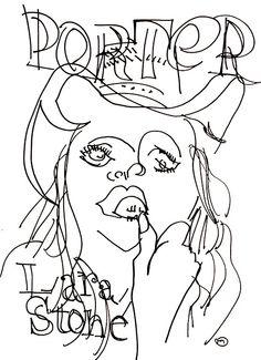 belle BRUT sketchbook: #larastone for #portermagazine #fashion #style #illustration #blindcontour © belle BRUT 2014 http://bellebrut.tumblr.com/post/93652864305/belle-brut-sketchbook-larastone-portermagazine