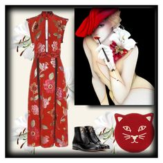 """red burberry"" by art-gives-me-life ❤ liked on Polyvore featuring sexydresses"
