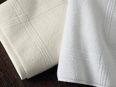Montauk Towel Textured terry with an engineered, framed border, these 100-percent long staple cotton towels are luxurious, machine washable pieces that make you feel as though you're at a five star resort.