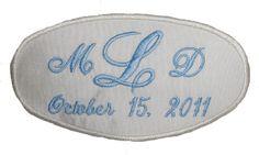 Silk Wedding Dress Name Label Custom by InitialImpressions on Etsy, $19.00