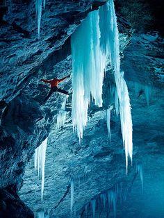 Peter Ortner - climbing Zirknitzgrotte, Austria